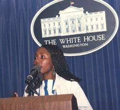 à la Maison Blanche